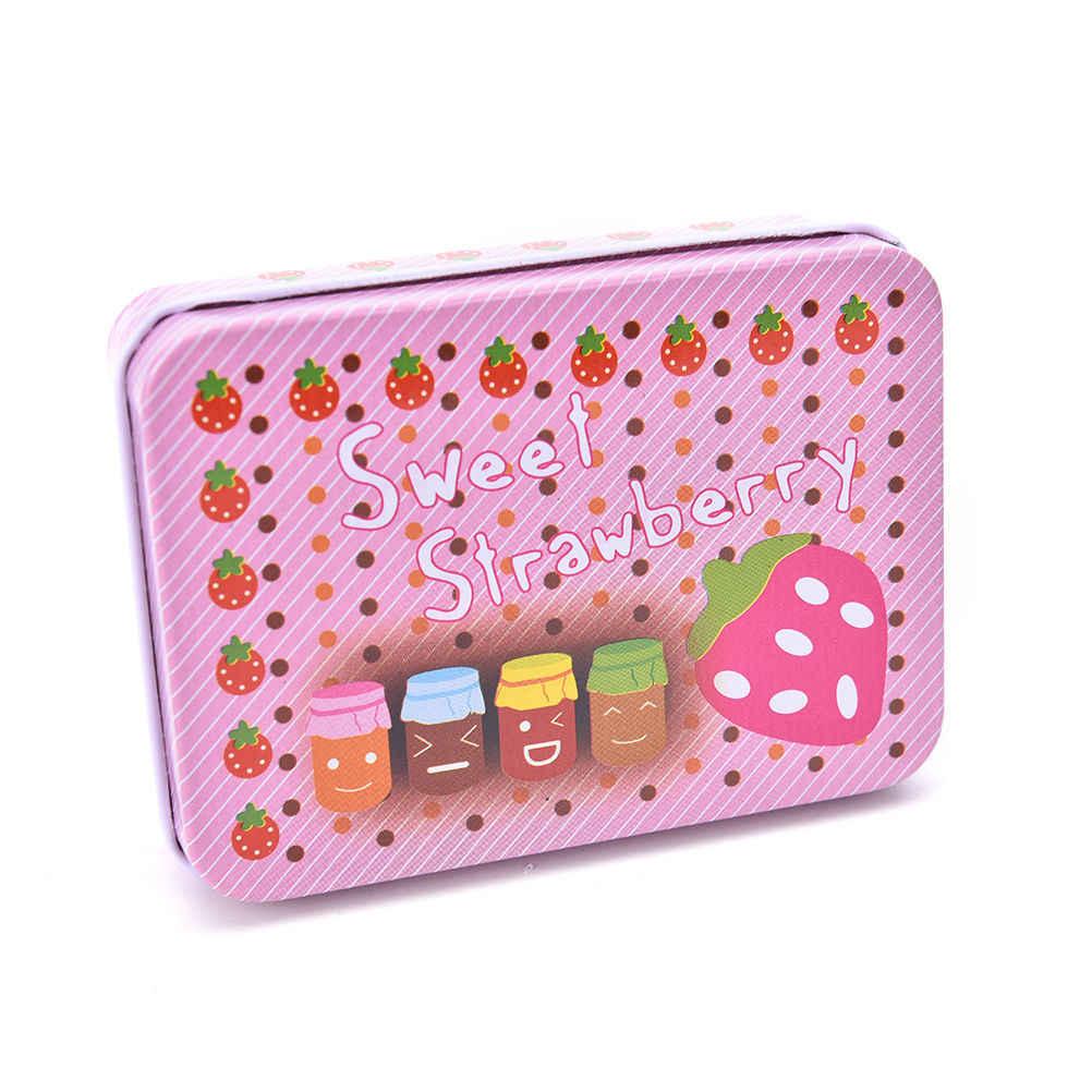 Preciosa Mini BOLSA Vintage de lata de almacenamiento para monedas, joyero con estampado para niñas, regalos, soporte de almacenamiento para escritorio, organizador de artículos de papelería y cosmética