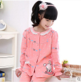 New arrival Children's pyjamas girls 12 years old girl cartoon leisurewear cotton the spring and autumn sweet suit girls pajamas