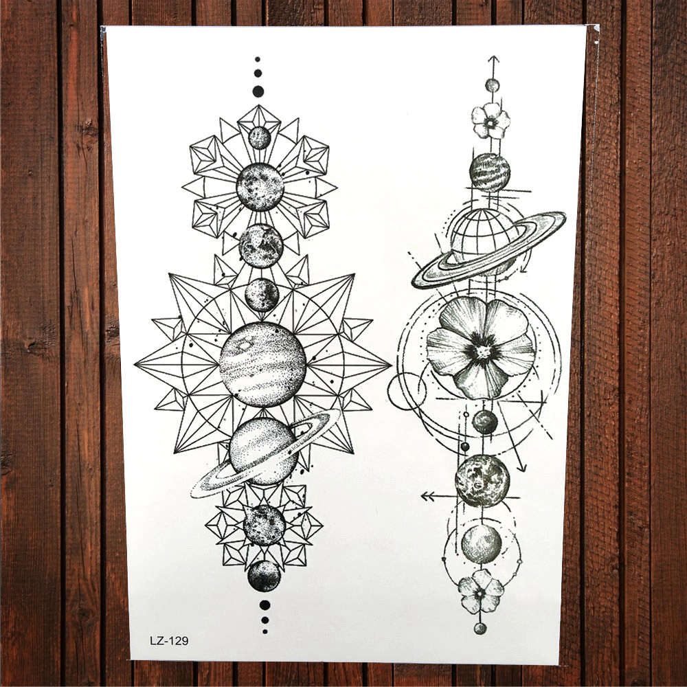 Watercolor spaceman temporary tattoo flower celestial body art fake watercolor spaceman temporary tattoo flower celestial body art fake flash tattoo birds earth world map tattoo stickers alz 401 in temporary tattoos from gumiabroncs Image collections
