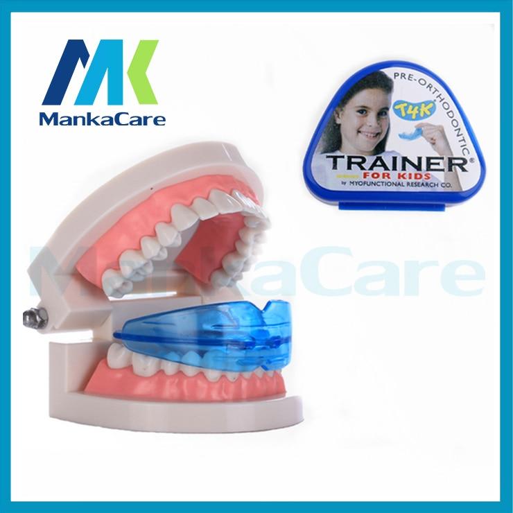 2 pcst4k criancas dental dente ortodontico aparelho treinador criancas alinhamento chaves higiene oral dental dentes retos