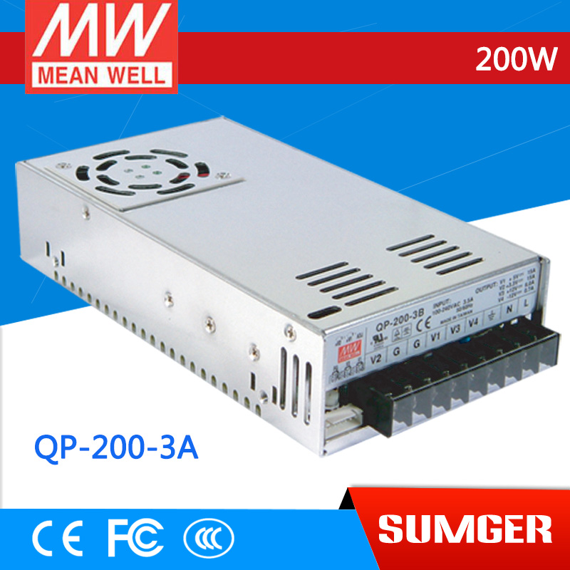 все цены на  1MEAN WELL original QP-200-3A meanwell QP-200 200W Quad Output with PFC Function Power Supply  онлайн