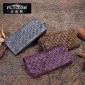 2017 Original Design Vintage Handmade Women Wallet Genuine Leather Rivets Personalized Card Holder