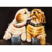 5D diamond painting Intimate small dog diamond rhinestone pasted painting diamond cross stitch home living room decoration