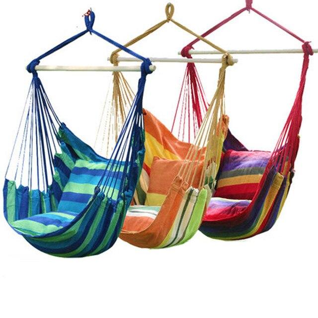 mode suspendu collge chaise intrieur extrieur meubles hamacs pais toile dortoir balanoire avec 2 oreillers hamac - Hamac Exterieur