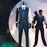 Anime! Game OW Shimada Hanzo Skin Uniform Cosplay Costume Custom made Size For Men Free Shipping