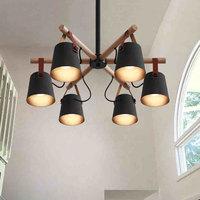 KHÁCH SẠN phòng khách đèn chùm ánh sáng gỗ chi nhánh ĐÈN LED tiết kiệm điện Đèn ốp trần phòng ngủ nhà hàng nghiên cứu gỗ dây đèn chùm