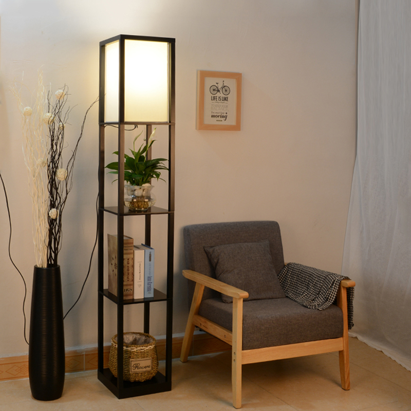 Shelf Floor Lamp Living Room In The Bedroom Of The Chinese