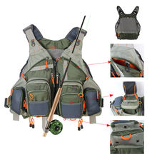 Fly Fishing Mesh Vest General Size Adjustable Mutil-Pocket Outdoor Fishing Hiking