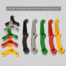 Motorcycles Adjustable Steering Stabilize Damper Bracket Mount Support Kit for Kawasaki Z 800 2013 2014 2015 2016 2017 2018 adjustable steering stabilize damper bracket mount kit for kawasaki z1000 2014 2016 2015 t6061 t6 aluminum a set cnc fxcnc