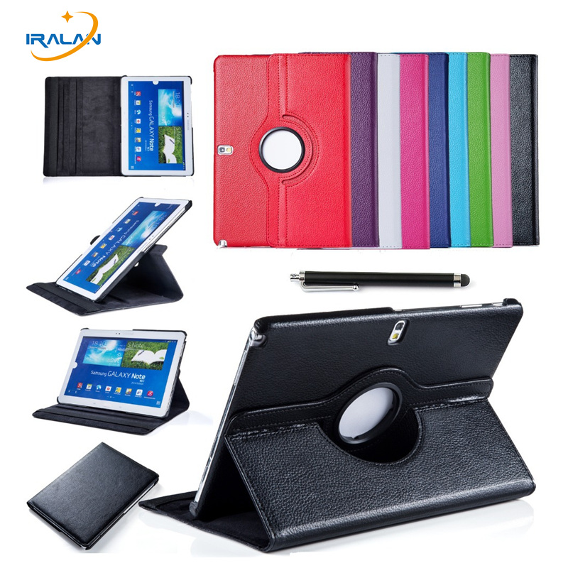 2017 Hot 360 Degree ratating Cover For Samsung Galaxy Tab Pro 10.1 SM-T525 T520 T525 T521 PU leather Case+Stylus pen+Screen Film  for samsung galaxy tab pro 10 1 sm t520 t520 sm t525 t525 leather case 10 inch universal tablet cover center film pen kf492a