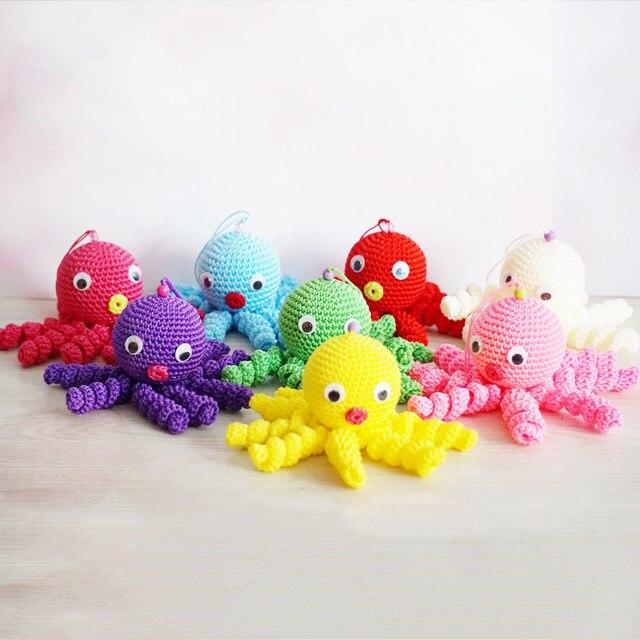 Tienda Online 1 unid colorido creativo felpa pulpo lindo tejer ...