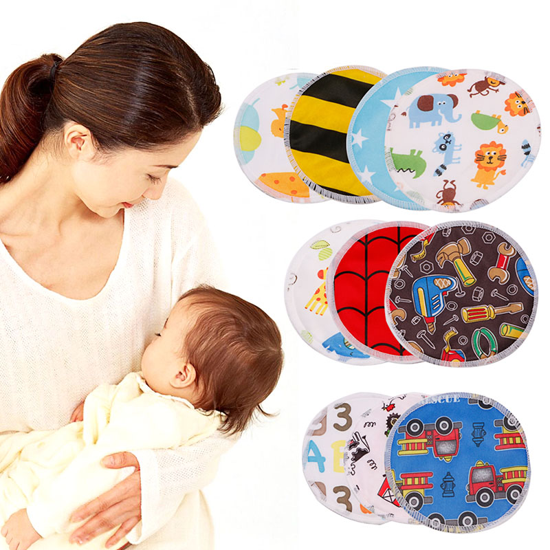4Pcs Reusable Waterproof Breast Nursing Feeding Pad Maternity Washable Soft Pads