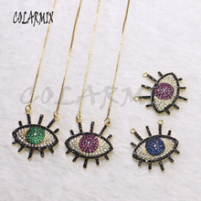 6Pcs High quality pendant Eye shape  necklace jewelry Necklace gift for lady wholesale