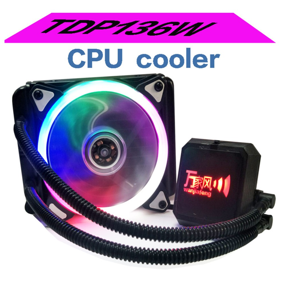 Aluminum Liquid Freezer Cooling System CPU Cooler Fan Fluid Dynamic Bearing Radiator With Pump Low Noise Kit Universal compute fan cpu cooling fan blueled light freezer water liquid cooling system cpu cooler fluid dynamic bearing for computer