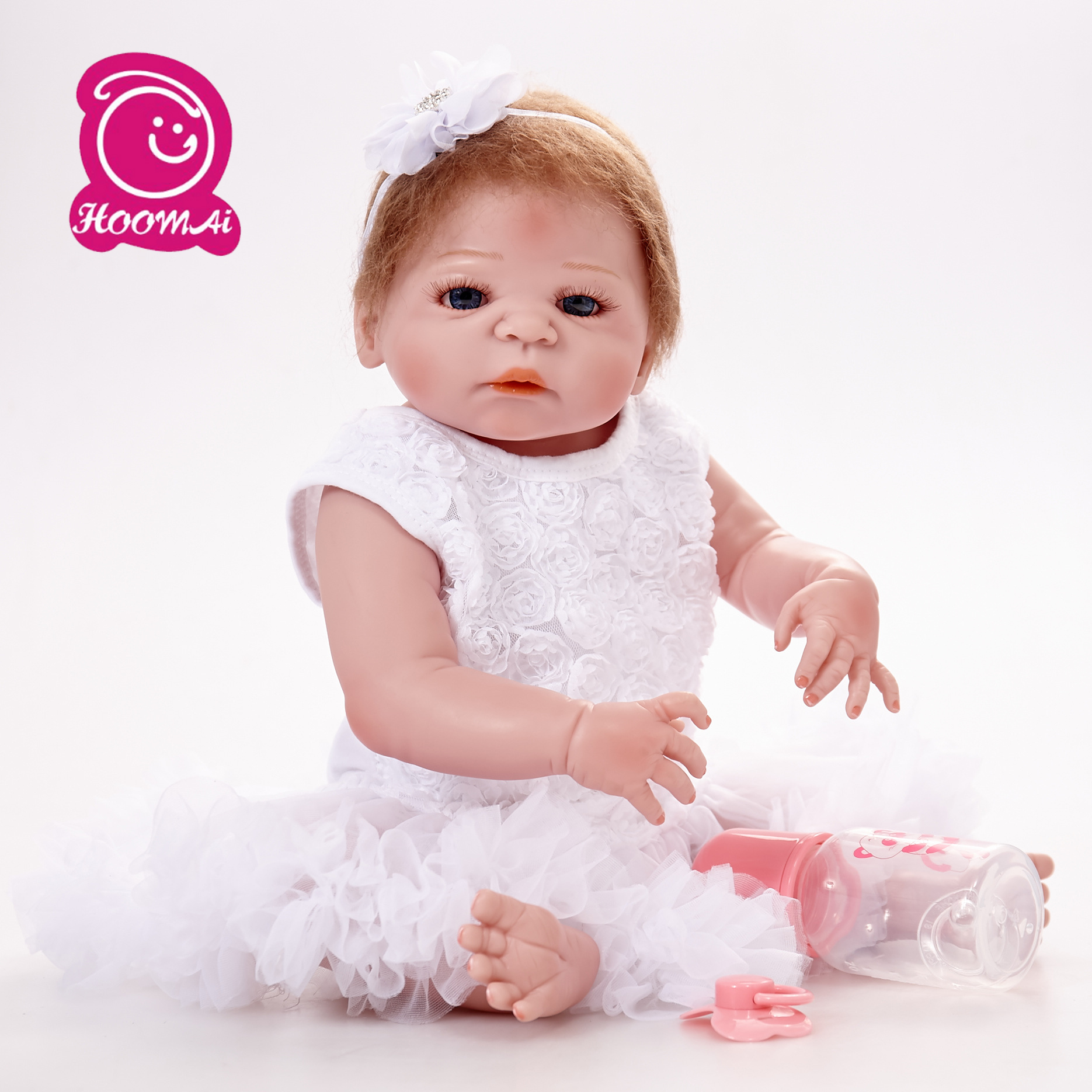 22 reborn dolls full body silicone reborn babies wig hair realistic girl bebe alive reborn bonecas kids bithday gifts toys22 reborn dolls full body silicone reborn babies wig hair realistic girl bebe alive reborn bonecas kids bithday gifts toys