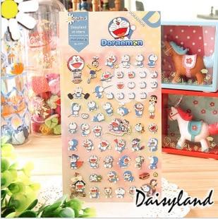 Japan style doraemon cartoon self adhesive sticker, high quality decorative cute cat DIY craft sticker school & office supplier