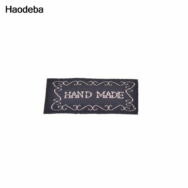 Haodeba 20 Stücke Schwarz Handmade Brief Baumwolle Stoff Gewebt ...