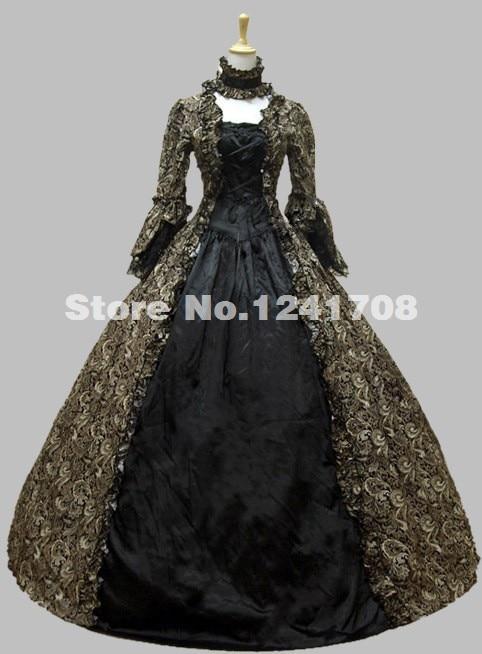 Período Colonial Georgiana De Largo Prom Vestidos De Fiesta