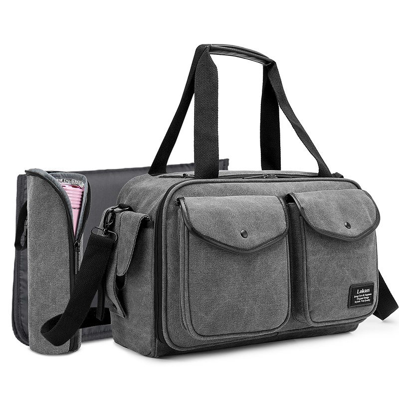 CoolBELL Diaper Bag Canvas Baby Tote Bag For Men And Women Travel Large Capacity Mummy Nappy Bag