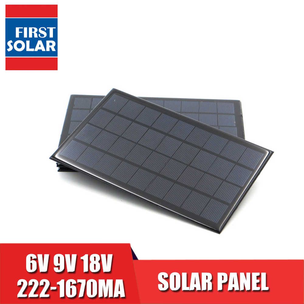 لوحة طاقة شمسية 1000mA 1670mA 222mA 333mA 467mA 1120mA 556mA 5 6 9 12 18 V VDC الشمسية بطارية شاحن جوّال المحمولة