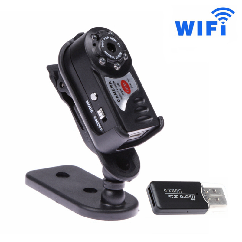 Mini WiFi P2P Car DVR Upgrade 720P DV Wireless Car IP Camera Night Vision Espia Video IR LED Display Motion Detection Dash Cam