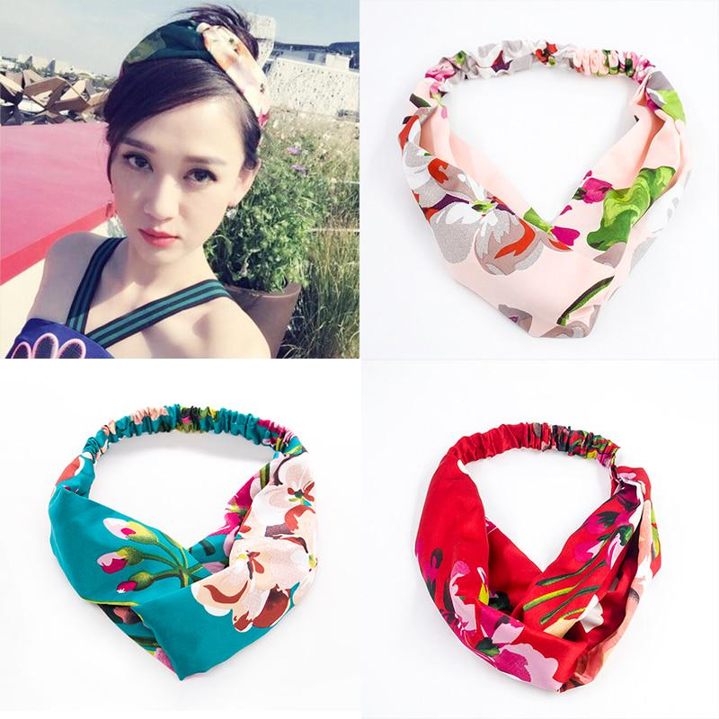 Fashion Girls Bohemia Printing Hairbands Women Cross Headband Girls Fashion Hair Bands HairBands Hair Accessories Headwrap