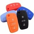 Автомобиль Силиконовый Чехол Ключ Для Audi A1 A3 Q3 Q7 A6L TT R8 Флип складной Ключ Чехол Четыре оооо Автомобиля укладки