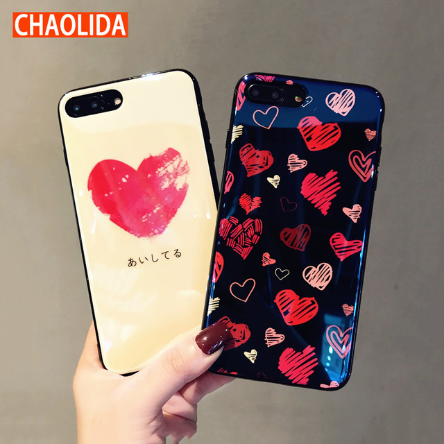 buy popular 97cc1 ed7d3 US $9.8 |CHAOLIDA Wholesale Fancy Girls Cases Red Heart TPU Soft Handphone  Fundas Accessories for Iphone X 6 6s 6Plus 7 7Plus 8 8Plus-in Fitted Cases  ...