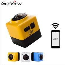 Cube360 D'action Caméra 360 Degrés Panorama Sport Cam 360×190 F2.0 Lentille Caméra 1280*1042 WiFi GVT100M DSP batterie 180 minutes