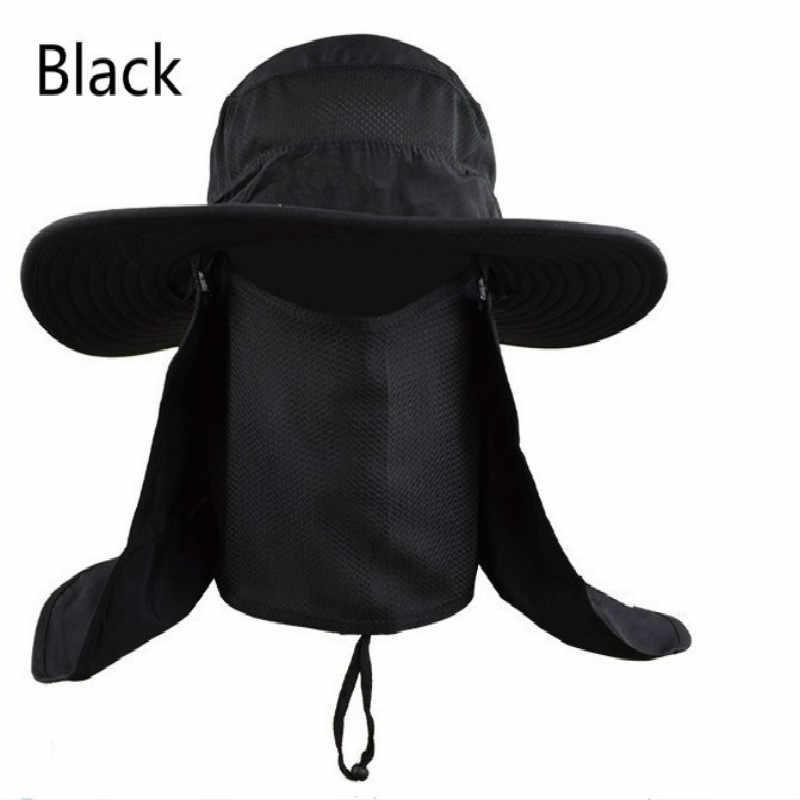 76c49993b61714 ... Army green gray rose khaki orange camo wide brim bucket hat with string  UV face neck ...