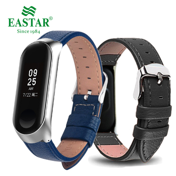 Eastar Colorful Leather Smart Watch Band For Xiaomi Mi Band 3 Smart Band Accessories For Xiaomi Miband 3 Smart Wristband Strap