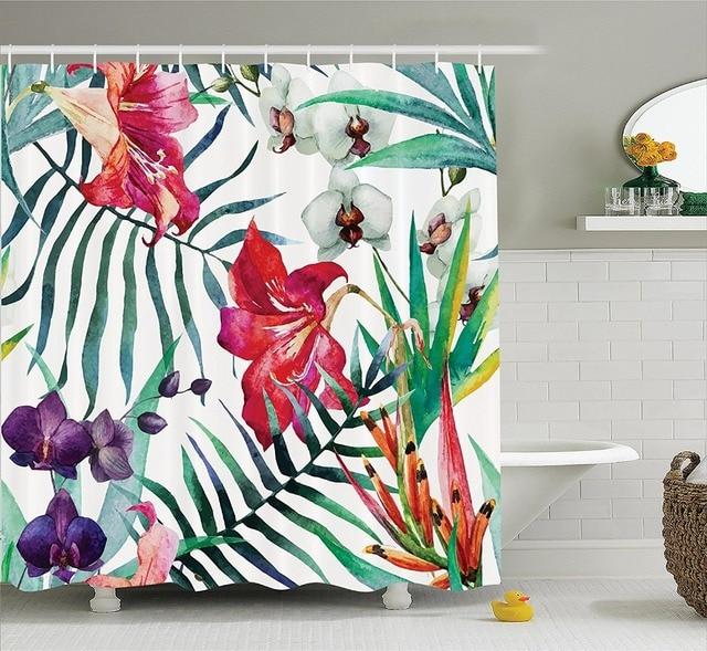 Préférence Orchidée Sauvage tropicale Fleurs avec des Feuilles de Palmier  UK05