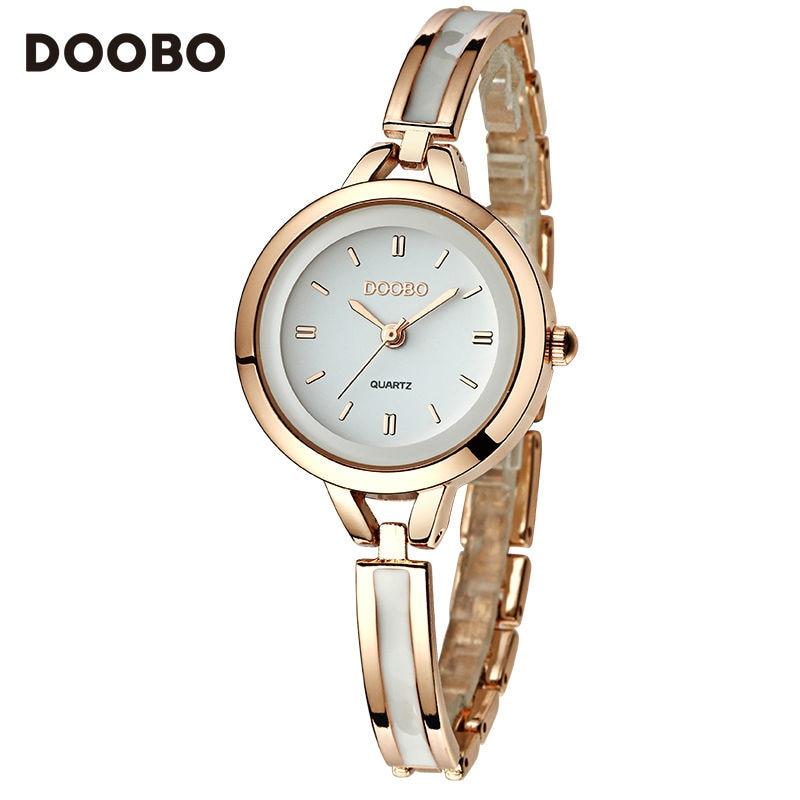 DOOBO Wrist Watches Luxury Gold Watch Women Watches Fashion Bracelet Ladies Watch Waterproof Clock Relogio Feminino Montre Femme