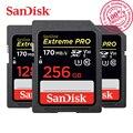 SanDisk Memory Card Extreme Pro SDHC/SDXC SD Card 170MB/s 32GB 64GB 128GB 256GB Class10 C10 U3 V30 UHS-I 4K for Camera SDXXY