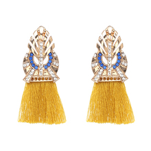 2017 Fashion Bijoux Tassel Ethnic Boho Earrings Jewelry Women Wedding Maxi Drop Dangle Fringed Earrings