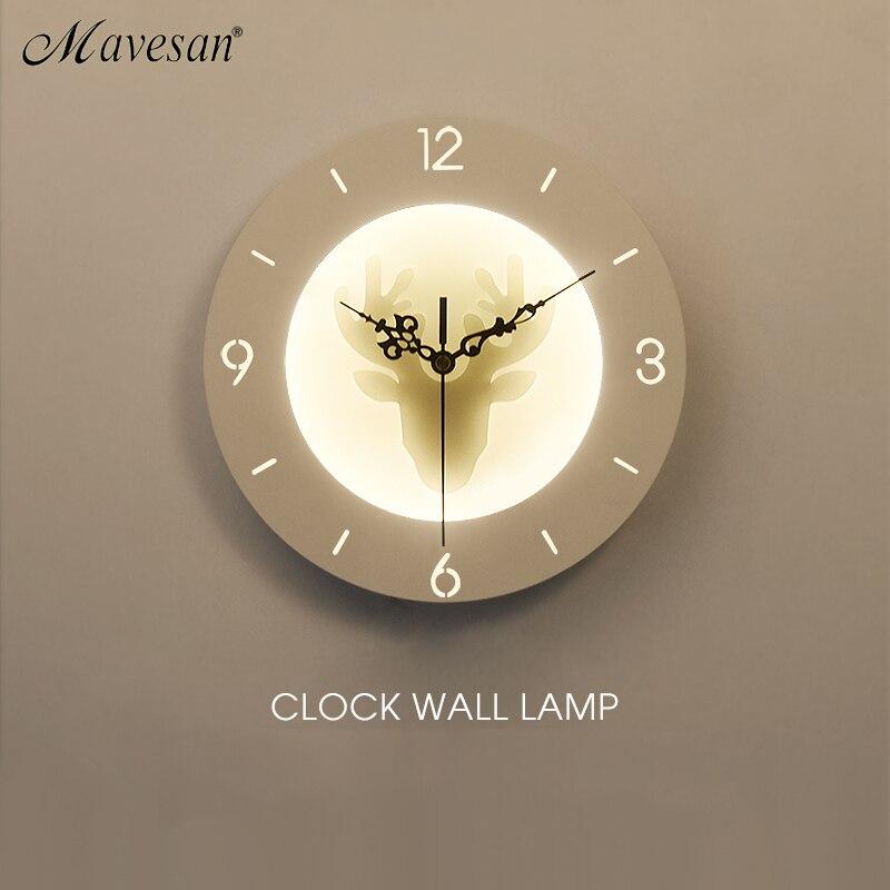 Horloge Lampes Murales Pour salon Chambre 22 w Applique Murale Blanc Éclairage Intérieur Lampe AC85-265V A MENÉ LA Lumière De Mur D'intérieur éclairage