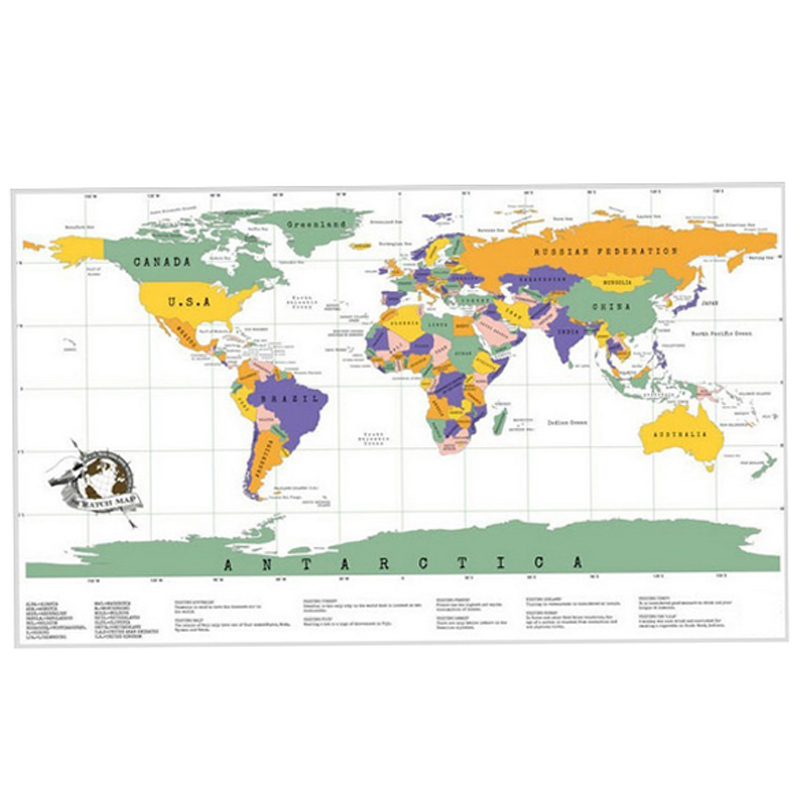Hot sale free shipping travel scratch off map personalized world map hot sale free shipping travel scratch off map personalized world map poster traveler vacation log etn in map from office school supplies on gumiabroncs Images