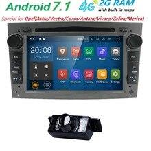 HD 1024×600 QuadCore 4G WIFI RAM 2 GB Android 7.1 STÜCK Auto DVD-Player Für Opel Zafira Meriva Vivaro Tigra Astra Antara Vectra Corsa