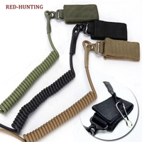 Outdoor Belt CS Backpack Accessories Hutning Tactical Gun Safety System Retractable Cord Safety Rope for Gun Rifle Pistol Sling|Hunting Gun Accessories| |  -