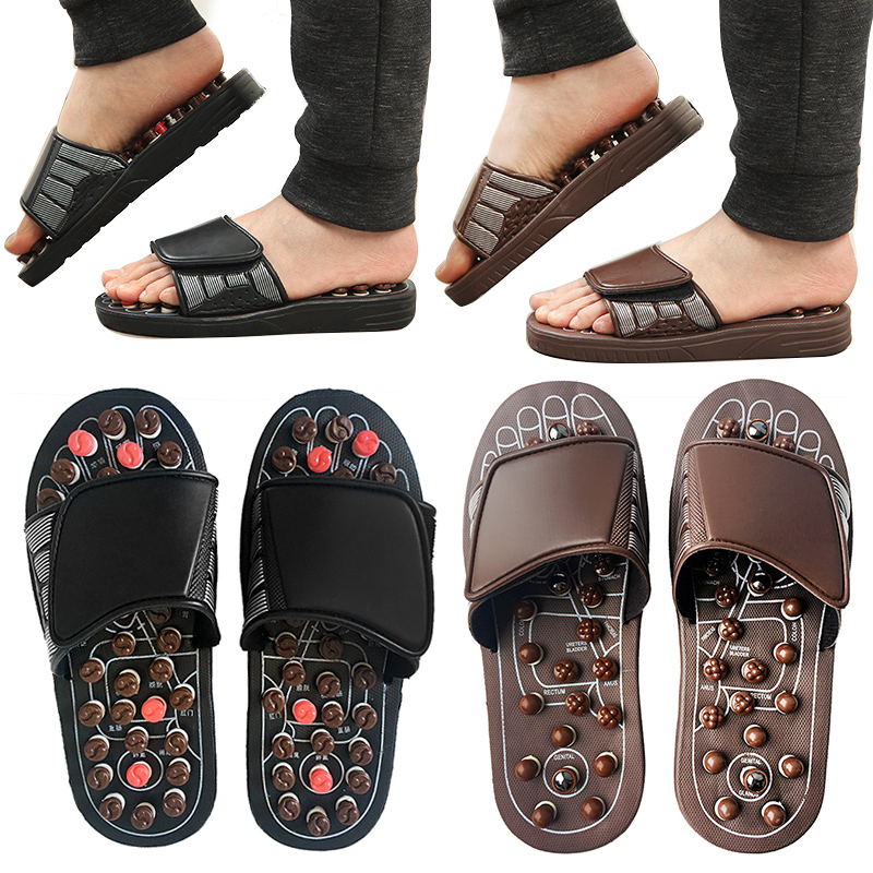 Foot Massage Video Presenta Slippers Acupuncture Therapy Massager Acupoint Activating Reflexology Feet Care Massageador Sandal