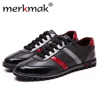 Merkmak 2017 Men S Shoes Fashion Casual Luxury Brand Genuine Leather Male Spring Autumn Breathable Shoes