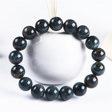 цены Genuine Namibia Blue Natural Pietersite Bracelets Women Men Stretch Crystal Round Bead Bracelet 12mm