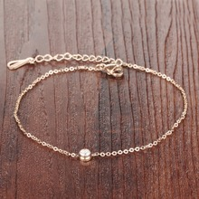 Fashion Zircon Anklet Stainless Steel Anklet Bracelet Universable Jewelry Ankle Chain