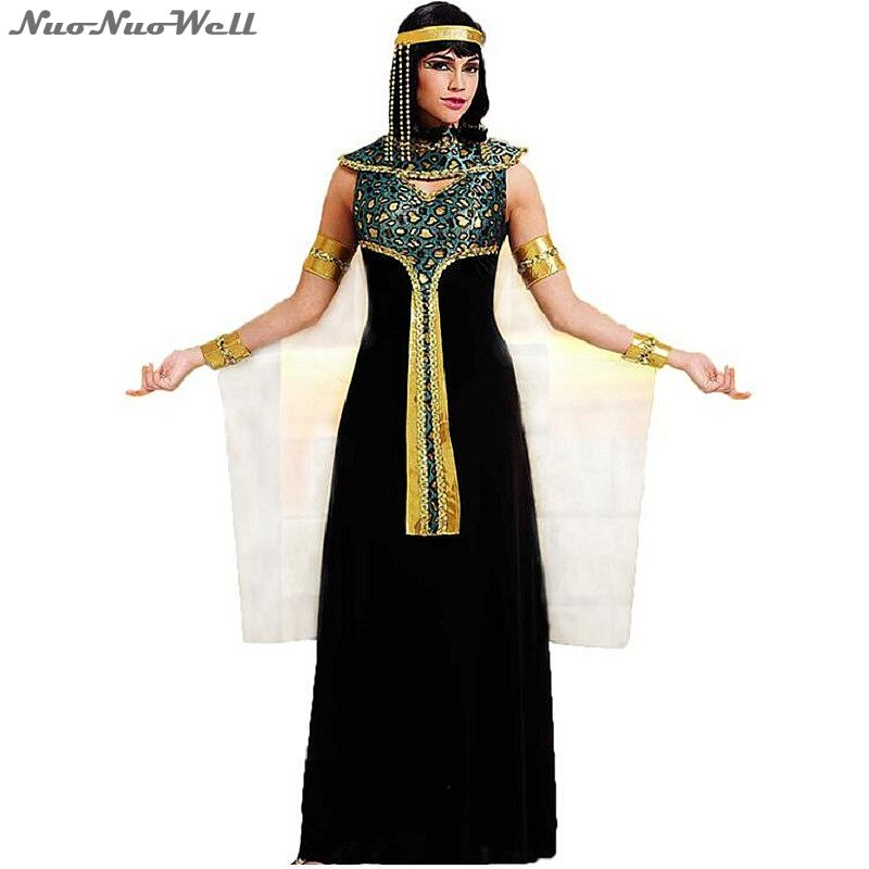 <font><b>Halloween</b></font> Costume <font><b>Sexy</b></font> Egyptian Cleopatra Costume Ladies Cleopatra Roman Toga Robe Greek Goddess Cosplay <font><b>Dress</b></font> image