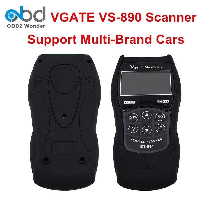 DHL gratuit Vgate MaxiScan VS890 OBD2 lecteur de Code VS 890 VS-890 outil de Diagnostic automatique lecteur de Code de défaut universel 13 langues