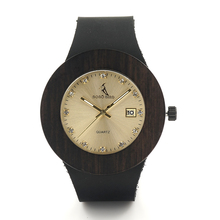 Dark Wood Gold Watches With Diamonds