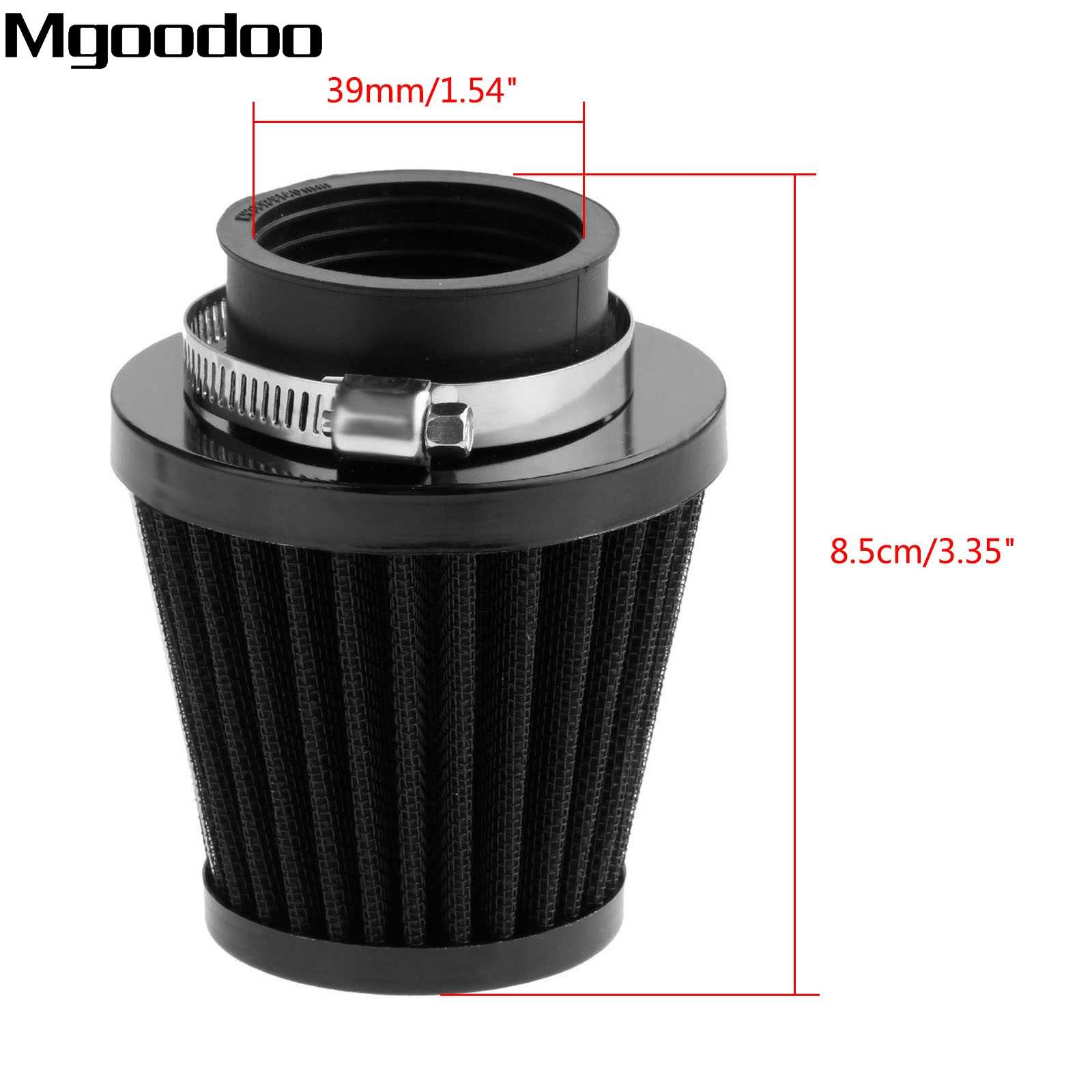 Mgoodoo 39mm Universal Motorcycle Air Filter Cleaner Clamp-on Polong ATV Dirt Pit Sepeda Scooter Motocross Udara Untuk Honda Suzuki KTM