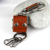Carabiner Keychain Key Holder High Quality Wasit Hanging Dice Key Chain Llaveros Hombre Retro Portachiavi Chaveiro
