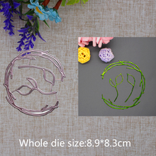 2019 New Arrival  Lovely Circle Grass Cutting Dies Stencil DIY Scrapbook Embossing Decorative Paper Card Craft Template 89x83mm 2019 new arrival lovely circle grass cutting dies stencil diy scrapbook embossing decorative paper card craft template 89x83mm