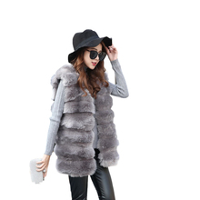 Warm short Faux fur Coat For Women Winter Vest Fur Soft Thick Fashion Slim faux jacket